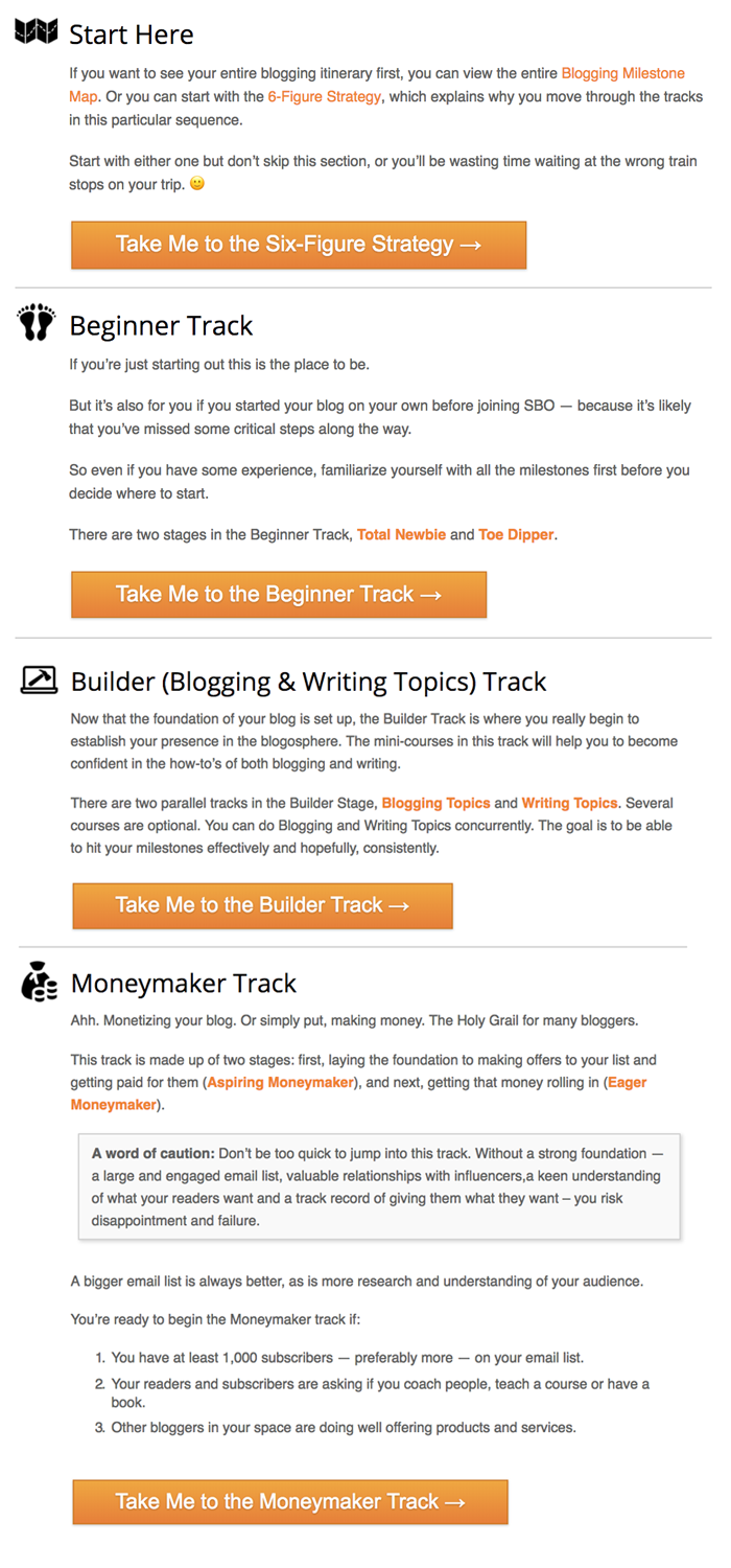 Blogging Milestone Map Tracks